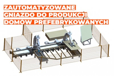 Product, Robotized station for the production of prefabricated house walls from company InfoTEC CNC