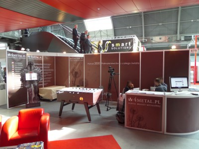 Company stand 4metal.pl on trade show STOM-TOOL & STOM-BLECH & STOM-LASER & SPAWALNICTWO & WIRTOPROCESY & CONTROL-TECH & CONTROL-STOM 2014