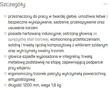 Product, Szpadel ostry IDEAL™ PRO from company Cellfast Sp. z o.o.