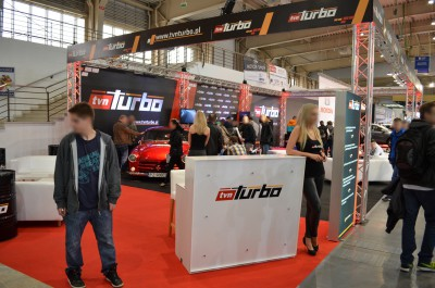 Company stand TVN SA on trade show MOTOR SHOW 2014