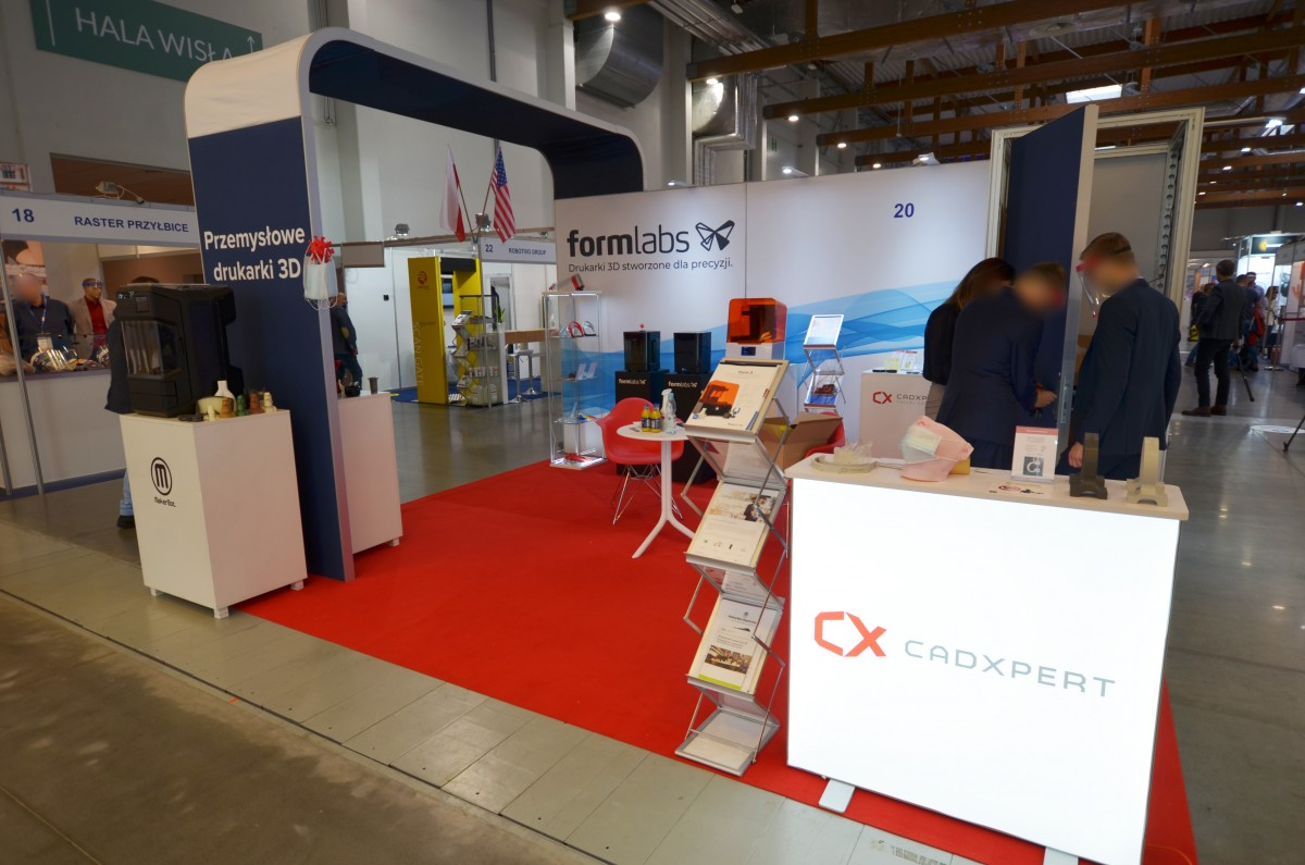 Company stand CADXPERT on trade show ANTYCOVID EXPO 2020