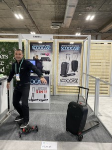 Company stand Scoocase LLC on trade show INTERNATIONAL CES 2020