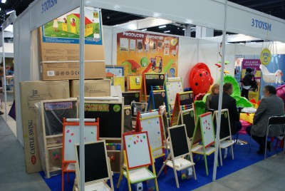 Company stand 3toysM on trade show KIDS TIME 2014