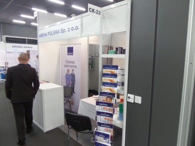 Company stand Abena Polska Sp. z o.o. on trade show REHMED-PLUS 2014