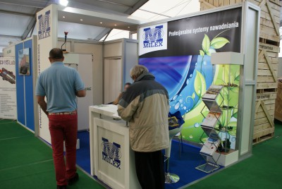 Company stand MILEX Systemy nawadniania on trade show LAS-EXPO & AGROTECH 2014