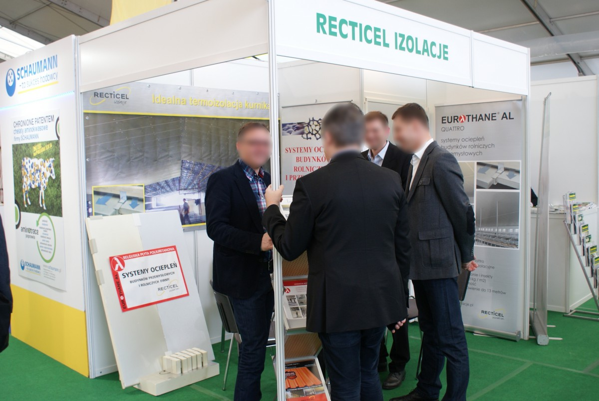 Company stand Recticel Izolacje Sp. z o.o. on trade show LAS-EXPO & AGROTECH 2014