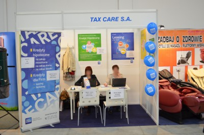 Company stand Tax Care Sp. z o.o. on trade show DOM & OGRÓD i TY 2014