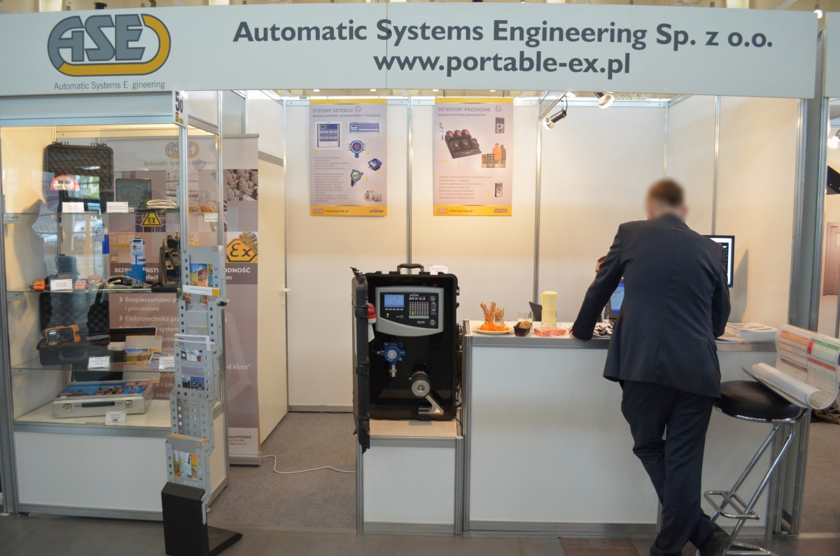 Company stand Automatic Systems Engineering Sp. z o.o. on trade show SAWO 2014