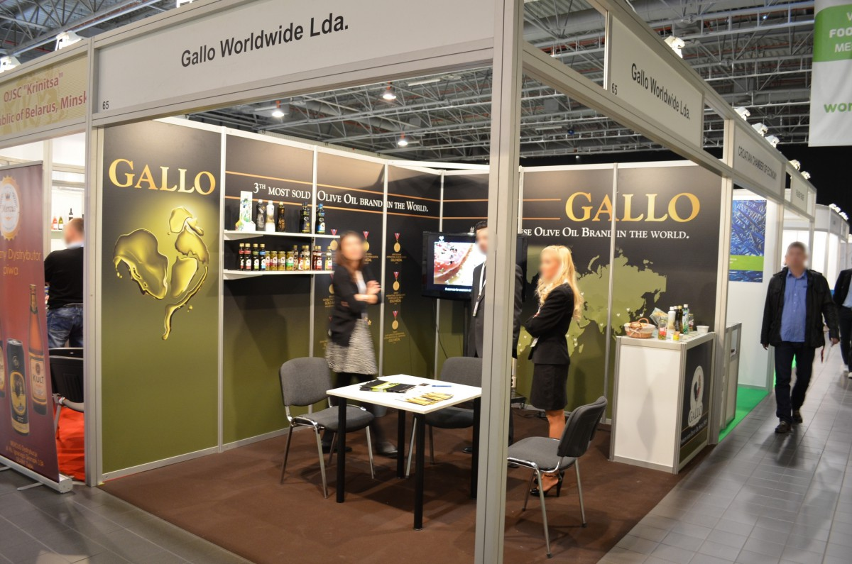 Company stand Gallo Worldwide on trade show WORLD FOOD 2014