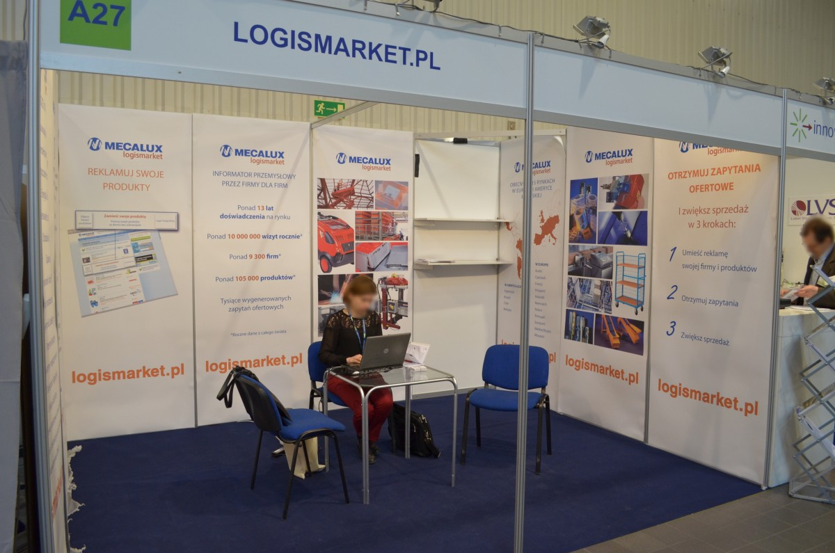 Company stand Logismarket Mecalux on trade show PACKAGING INNOVATIONS WARSZAWA 2014