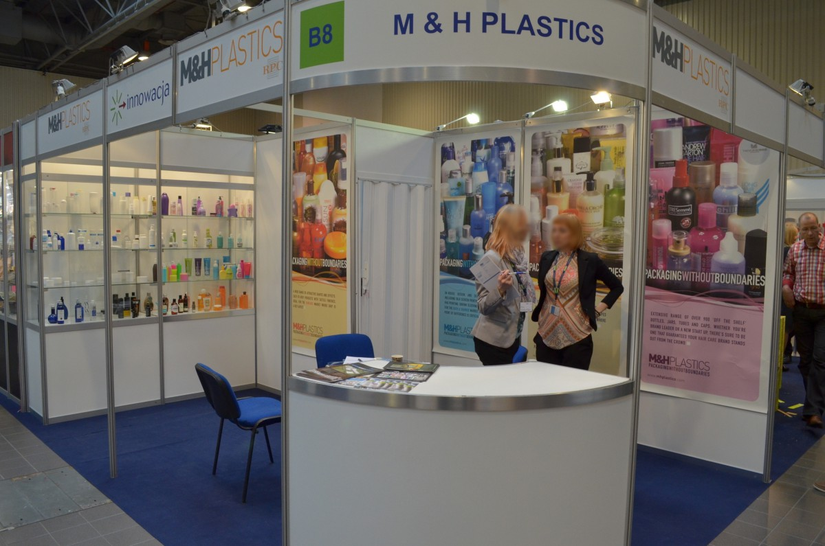 Company stand M&H Plastics Polska on trade show PACKAGING INNOVATIONS WARSZAWA 2014
