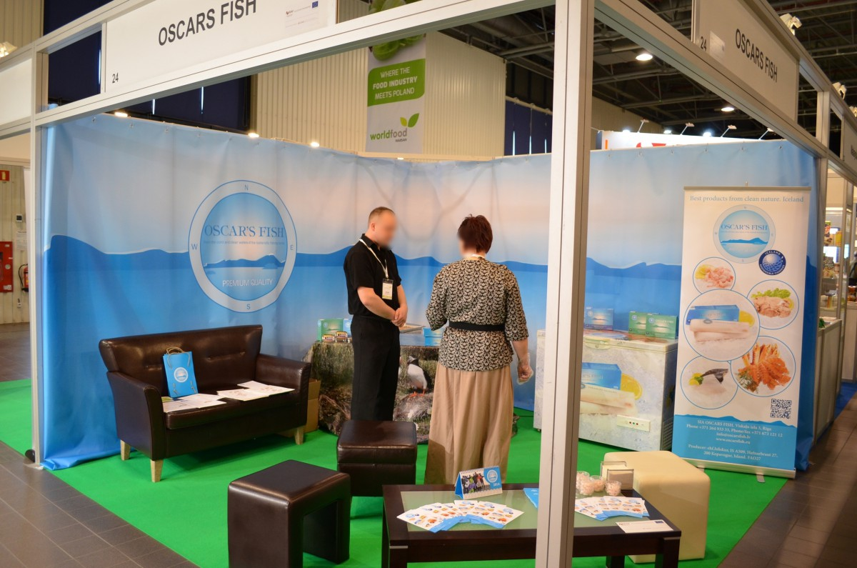 Company stand Oscars Fish on trade show WORLD FOOD 2014
