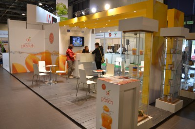 Company stand PERFECT PEACH on trade show WORLD FOOD 2014