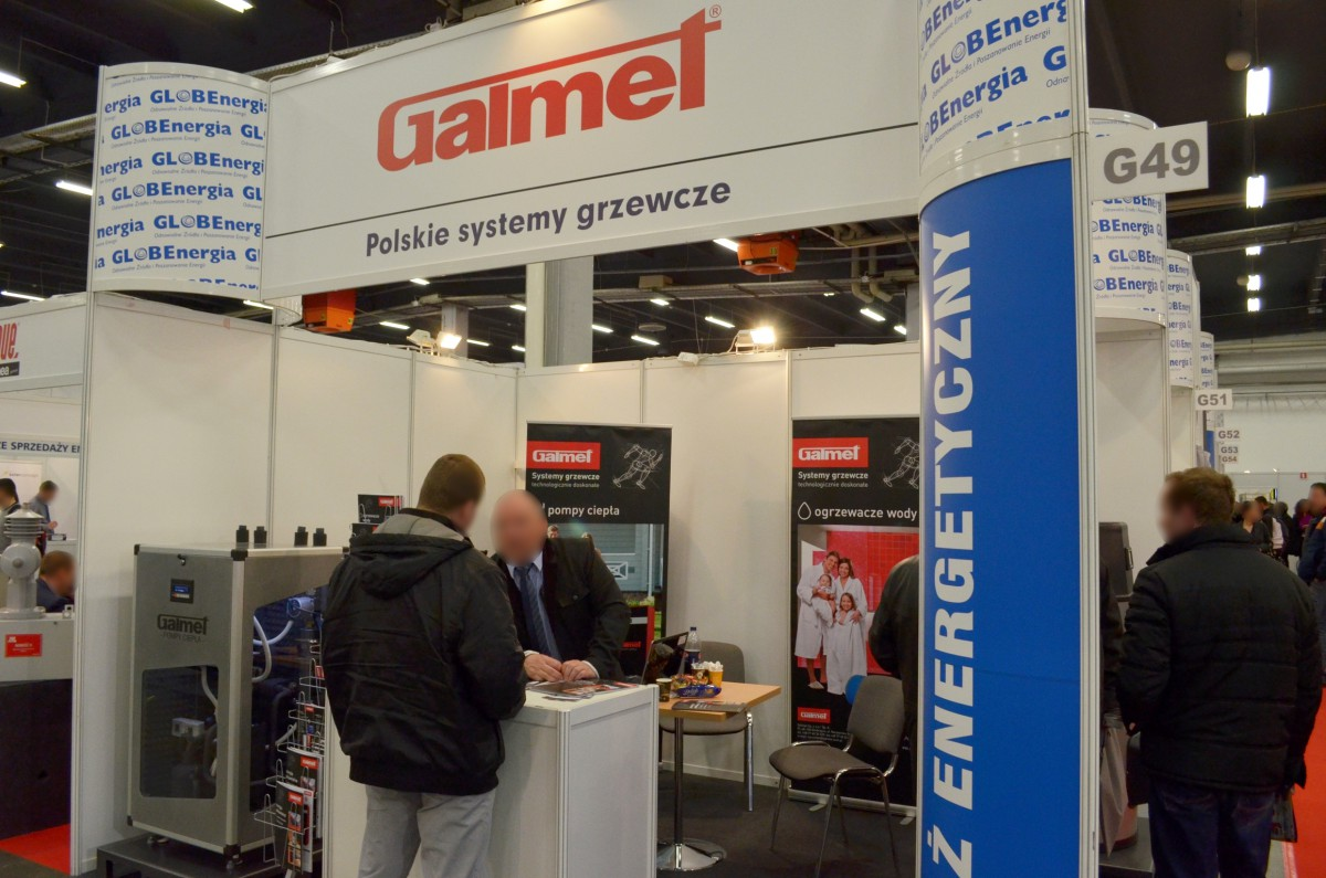 Company stand GALMET Sp. z o.o. on trade show ENEX 2014
