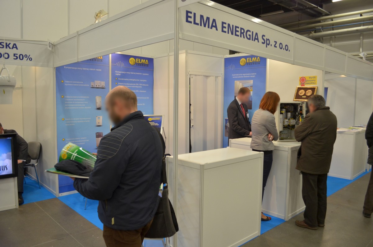 Company stand ELMA energia sp. z o.o. on trade show ENEX 2014