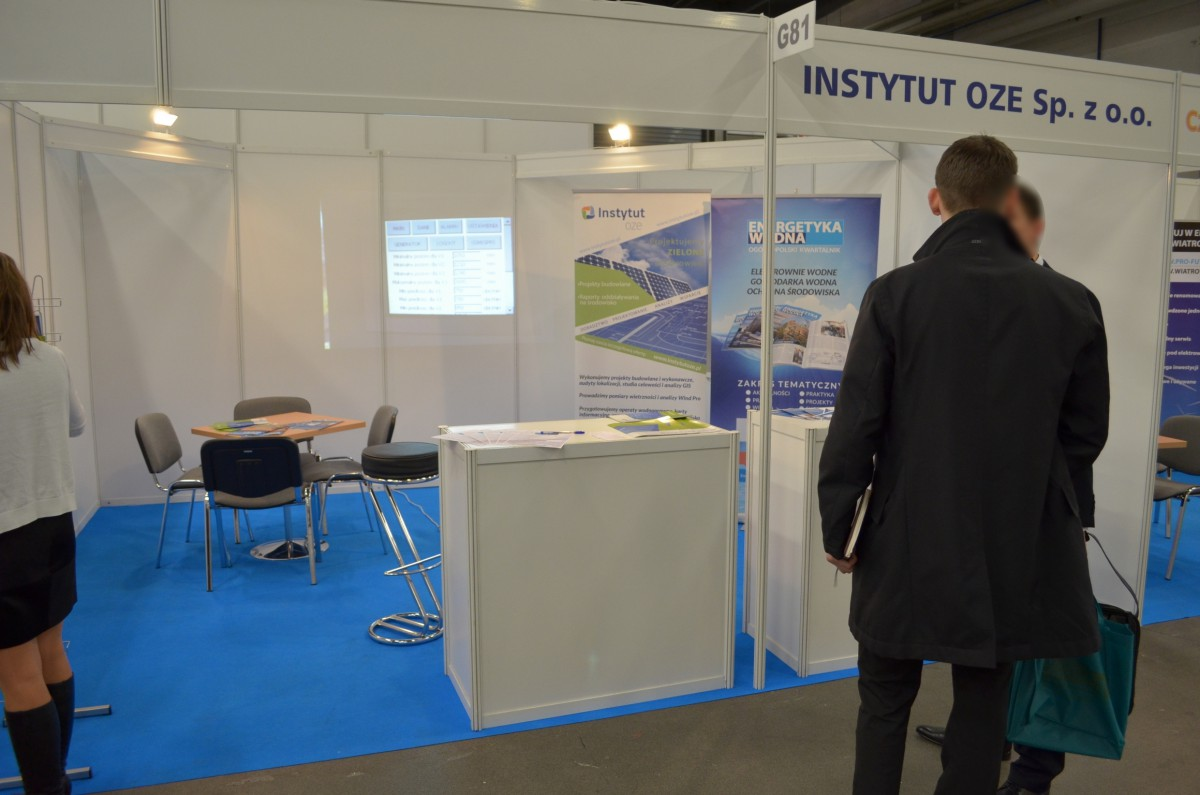 Company stand IOZE on trade show ENEX 2014