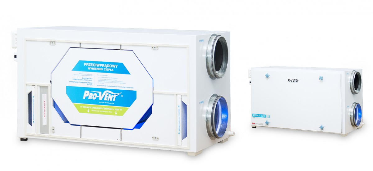 Product, Rekuperator MISTRAL PRO 400 EC from company PRO-VENT Systemy Wentylacyjne