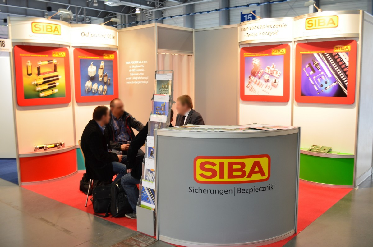 Company stand Siba Polska Sp. z o.o. on trade show EXPOPOWER 2014