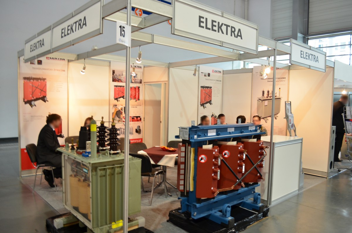 Company stand Elektra Grzegorz Wrona on trade show EXPOPOWER 2014