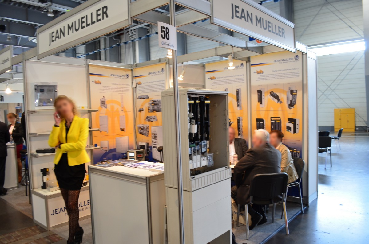 Company stand JEAN MUELLER POLSKA Sp. z o.o. on trade show EXPOPOWER 2014