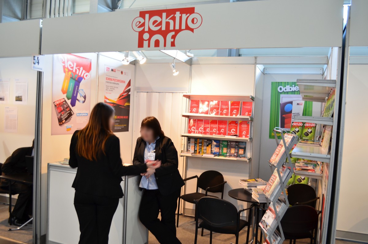 Company stand Elektro info on trade show EXPOPOWER 2014