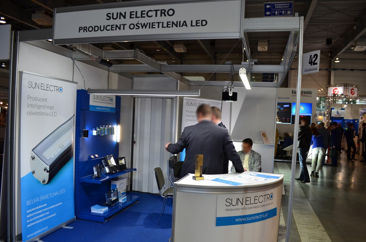 Company stand SUN ELECTRO Sp. z o.o. on trade show EXPOPOWER 2014