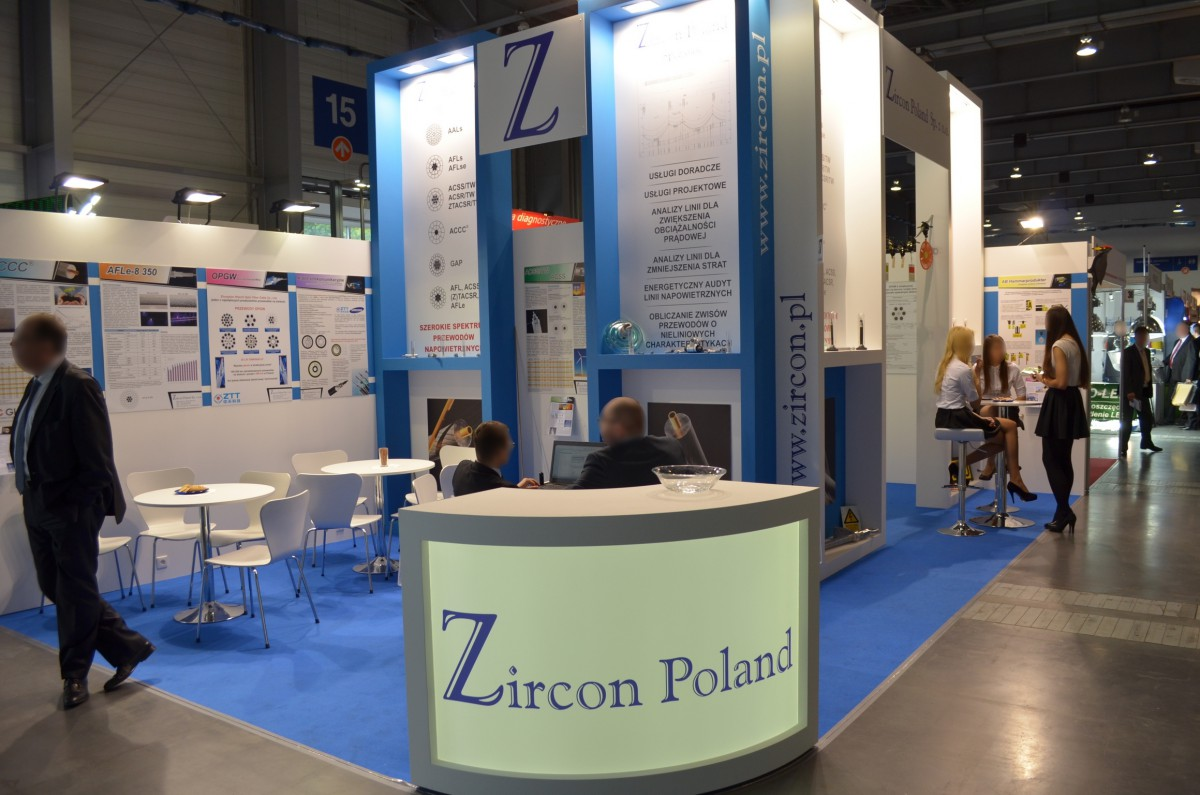 Company stand Zircon Poland Sp. z o.o. on trade show EXPOPOWER 2014