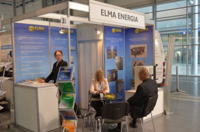 Company stand ELMA energia sp. z o.o. on trade show EXPOPOWER 2014