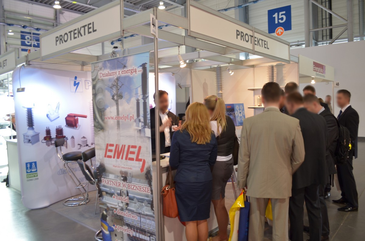 Company stand Protektel Sp.j. on trade show EXPOPOWER 2014