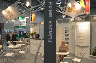 Company stand Flanders Investment & Trade on trade show GREENPOWER 2014