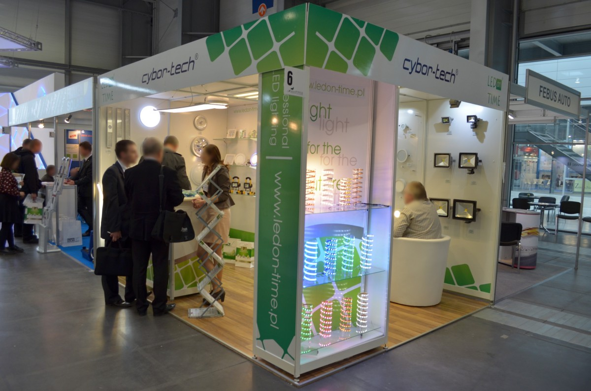Company stand CYBOR-TECH on trade show GREENPOWER 2014