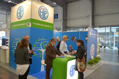 Company stand H.CEGIELSKI - POZNAŃ S.A. on trade show GREENPOWER 2014