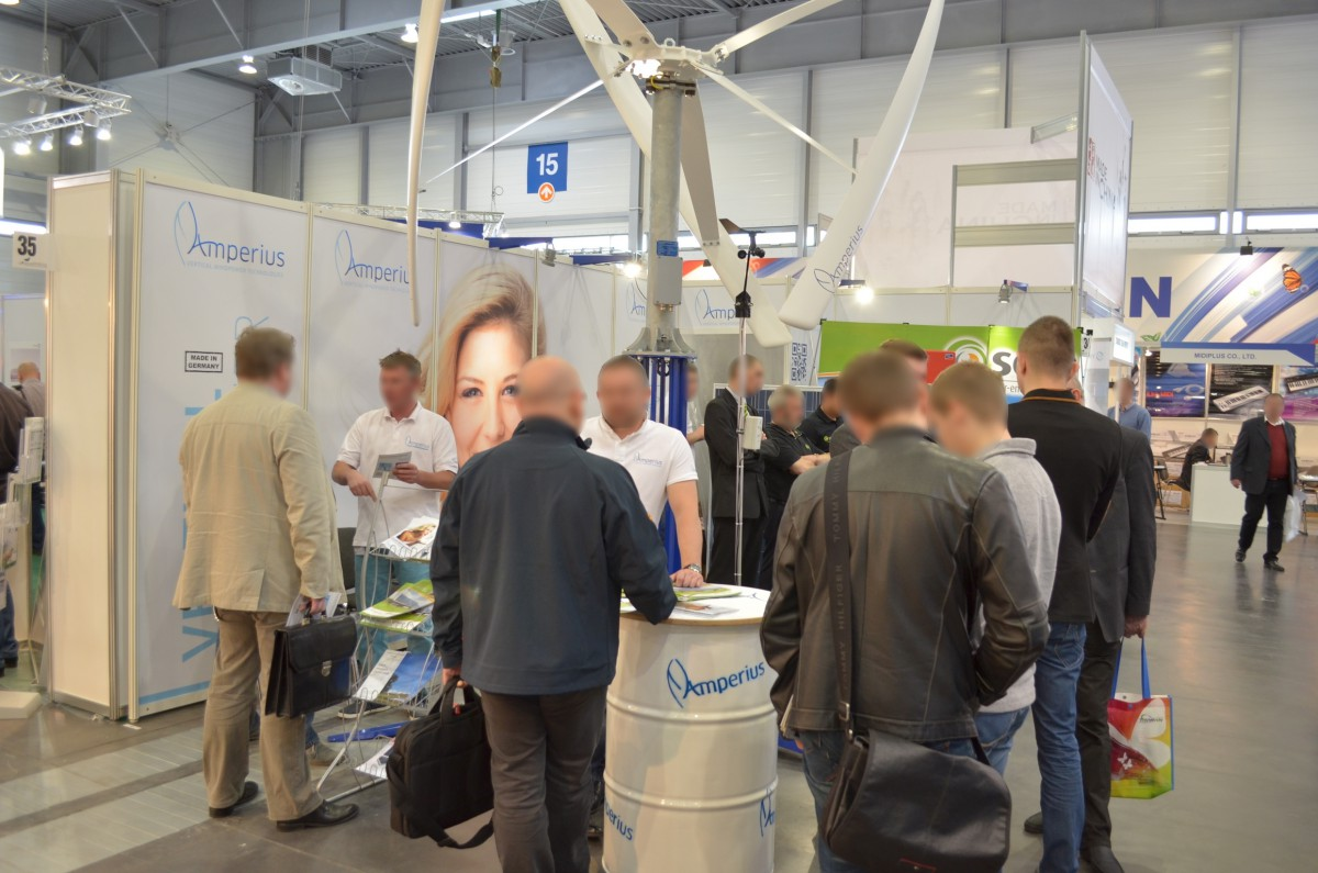 Company stand ERGY Sp. z o.o. on trade show GREENPOWER 2014