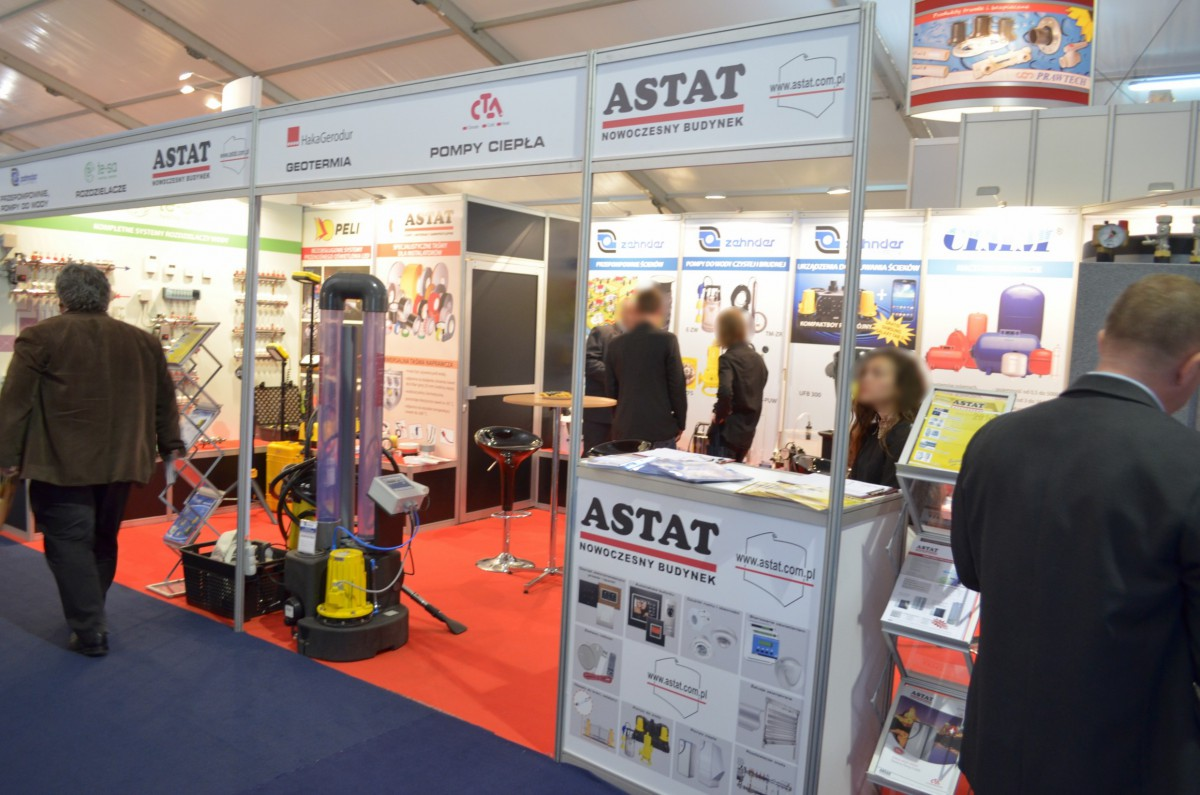 Company stand ASTAT Sp. z o.o. on trade show WOD-KAN 2014