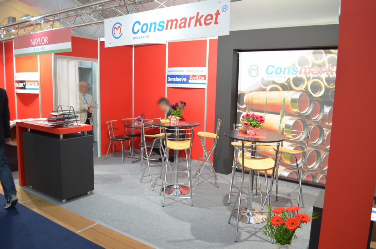 Company stand PRESTO systemy kominowe on trade show WOD-KAN 2014