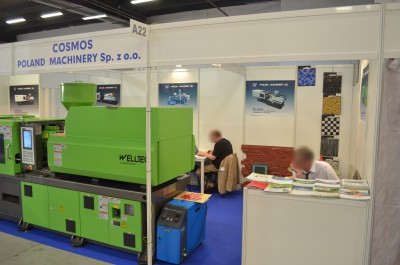 Company stand Cosmos Poland Machinery Sp. z o.o. on trade show PLASTPOL 2014