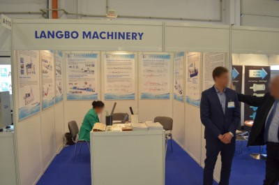 Company stand Zhangjiagang Langbo Machinery Co., Ltd on trade show PLASTPOL 2014