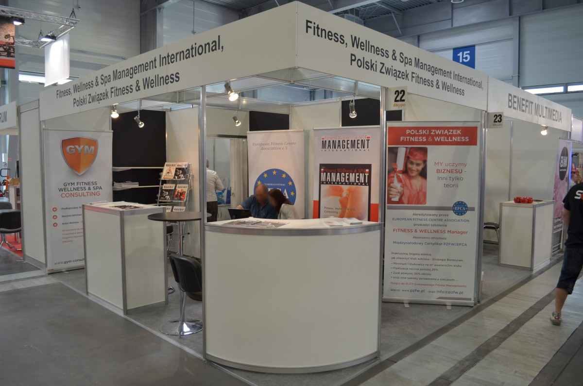 Company stand POLSKI ZWIĄZEK FITNESS & WELLNESS on trade show FIT-EXPO 2014