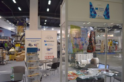 Company stand MANDO on trade show PLASTPOL 2014