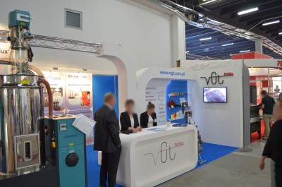 Company stand PROTEC POLYMER PROCESSING GmbH on trade show PLASTPOL 2014