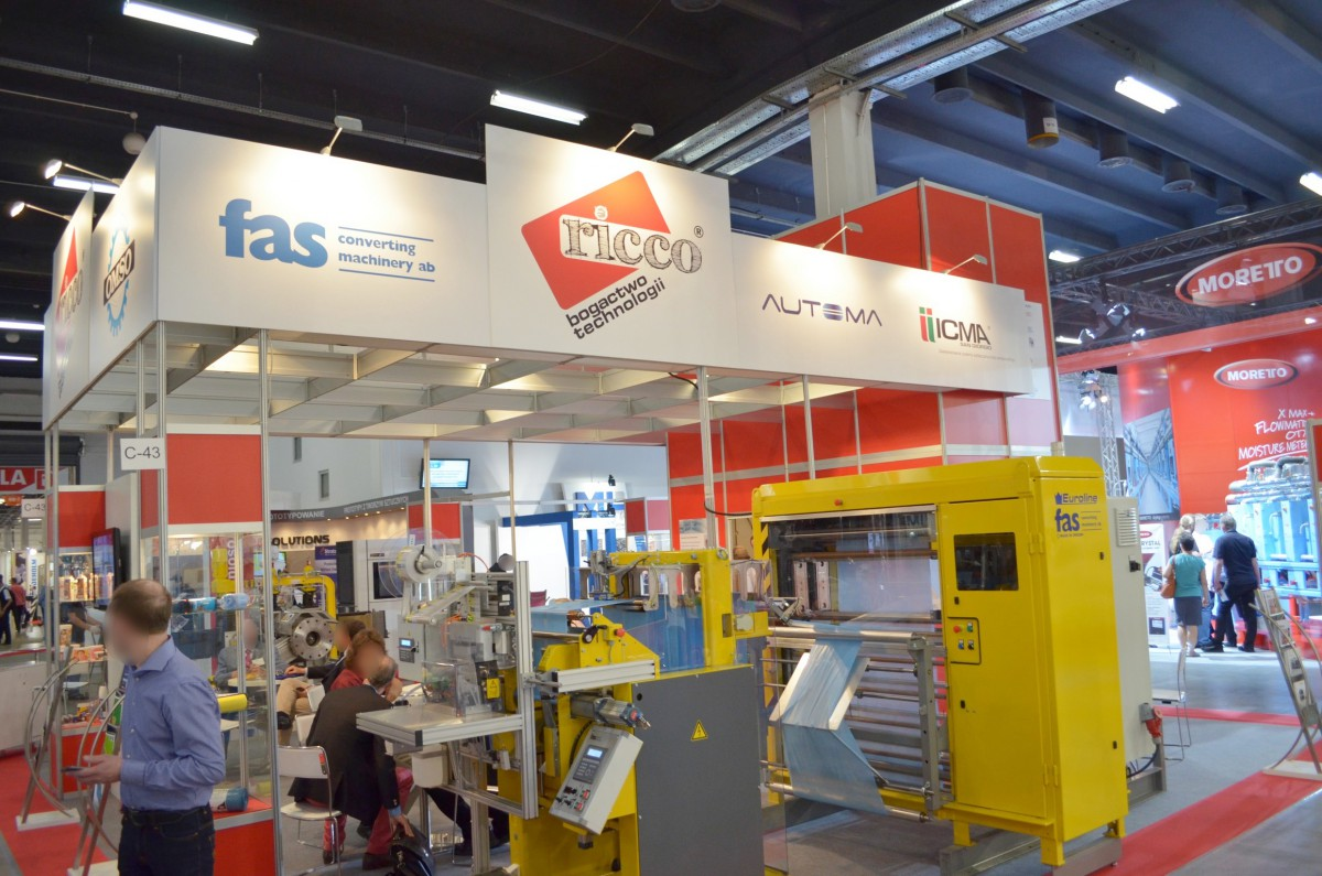 Company stand NEXT GENERATION RECYCLINGMACHINEN GmbH on trade show PLASTPOL 2014