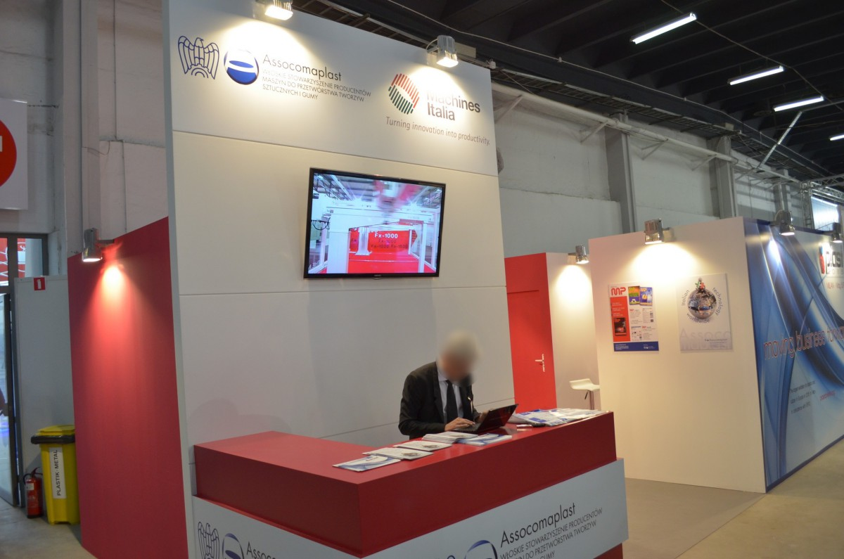 Company stand MACPLAS on trade show PLASTPOL 2014