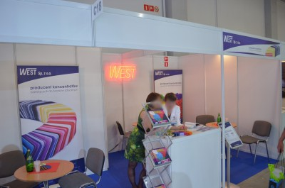 Company stand West Sp. z o.o. on trade show PLASTPOL 2014