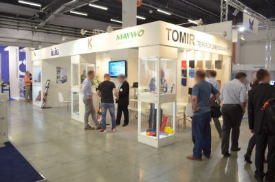 Company stand KUHNE GmbH on trade show PLASTPOL 2014