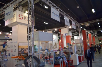 Company stand HUFSCHMIED Zerspanungssysteme GmbH   on trade show PLASTPOL 2014