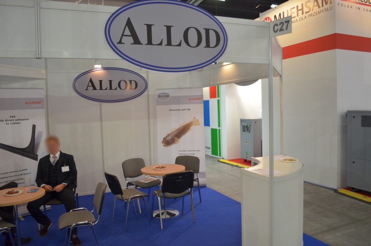 Company stand ALLOD on trade show PLASTPOL 2014