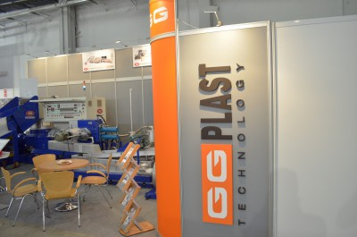 Company stand GG PLAST TECHNOLOGY on trade show PLASTPOL 2014