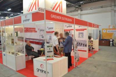 Company stand GREINER EXTRUSION GmbH on trade show PLASTPOL 2014