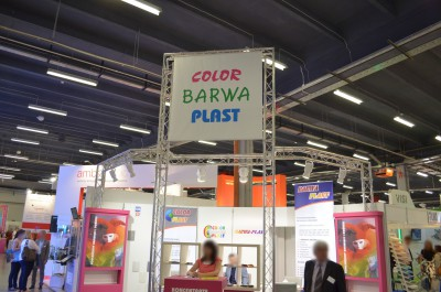 Company stand COLOR PLAST on trade show PLASTPOL 2014