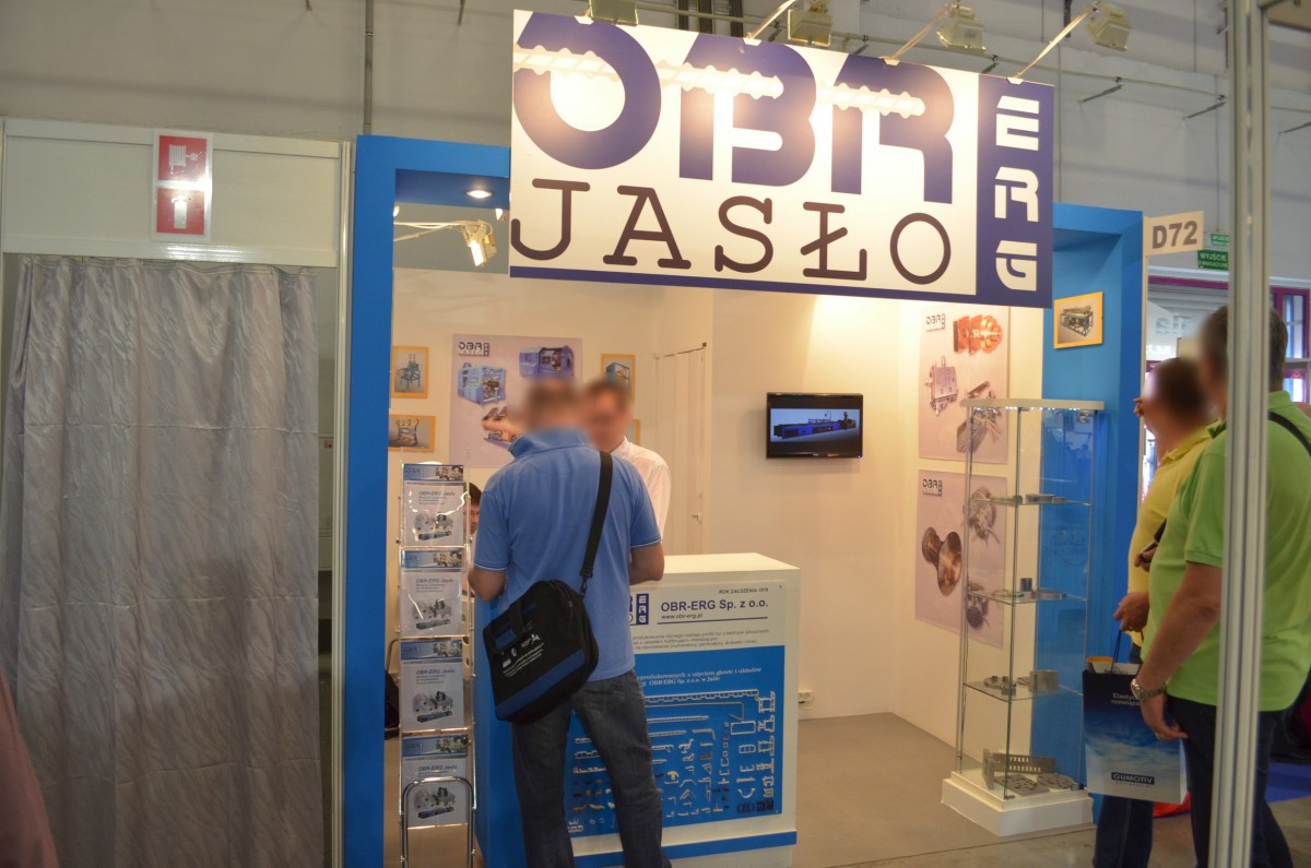 Company stand OBR-ERG Sp. z o.o. on trade show PLASTPOL 2014